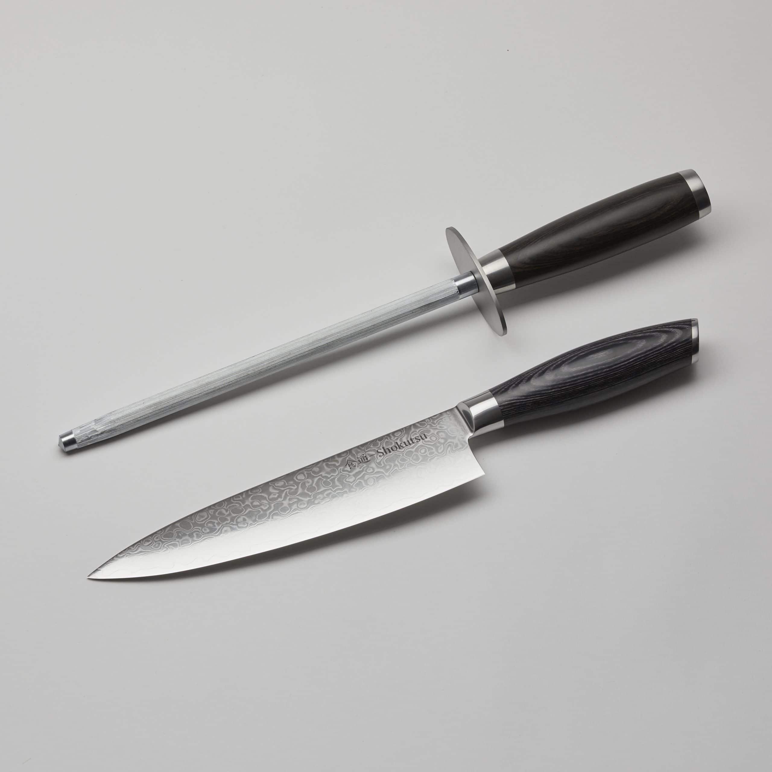 Kokkekniv og strygestål
